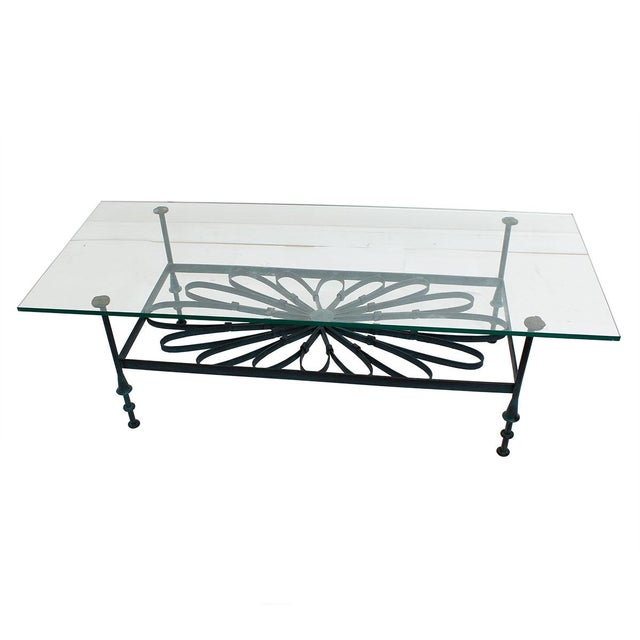 Decorator Wrought Iron Glass Coffee Table Chairish