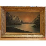 Image of 19 C. Oil on Canvas American School Riverscape