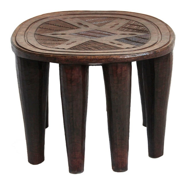 Kitchen Stools In South Africa: African Nupe Wood Stool