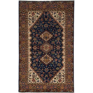 "Traditional Hand-Knotted Rug - 4'10"" x 8'1"""