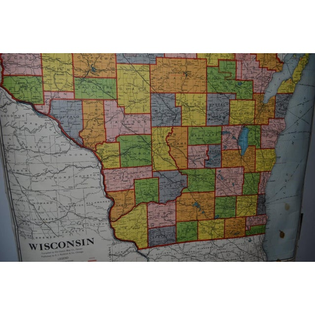 Classroom Map of Wisconsin Wall Mount - Image 7 of 10
