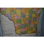 Image of Classroom Map of Wisconsin Wall Mount