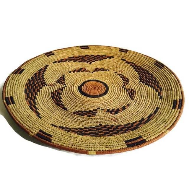 Vintage Moroccan Berber Woven Bowl Tray - Image 3 of 6