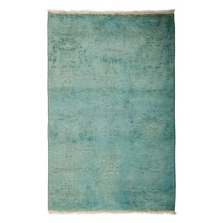 """Overdyed Hand Knotted Area Rug - 3'1"""" X 4'10"""""""