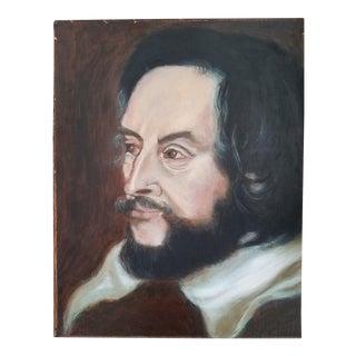 Shakespeare Acrylic Portrait Painting