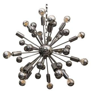 Mid-Century Chrome Sputnik Chandelier