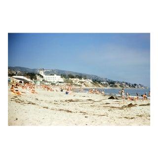 Sunbathing at Hotel Laguna, California Vintage 35mm Film Slide Photograph (Circa 1960s)