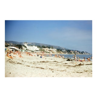 Sunbathing at Laguna Beach, California Vintage 35mm Film Slide Photograph (Circa 1960s)
