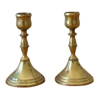 Vintage Brass Candle Stick Holders- A Pair