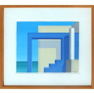 Cuban American Humberto Calzada Modernist Painting