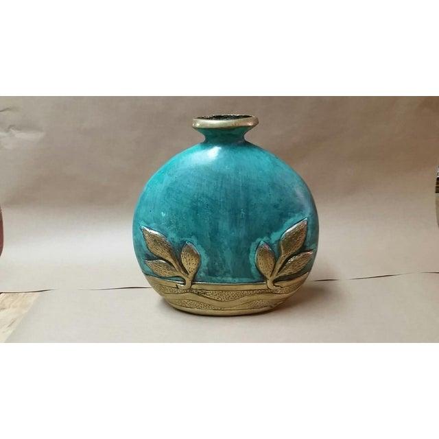 Image of Glazed Patina Bronze Bud Vase