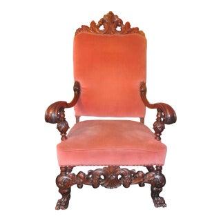 Antique Empire Throne Chair