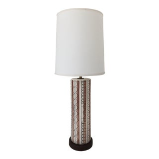 Mid Century Modern Studio Ceramic Table Lamp