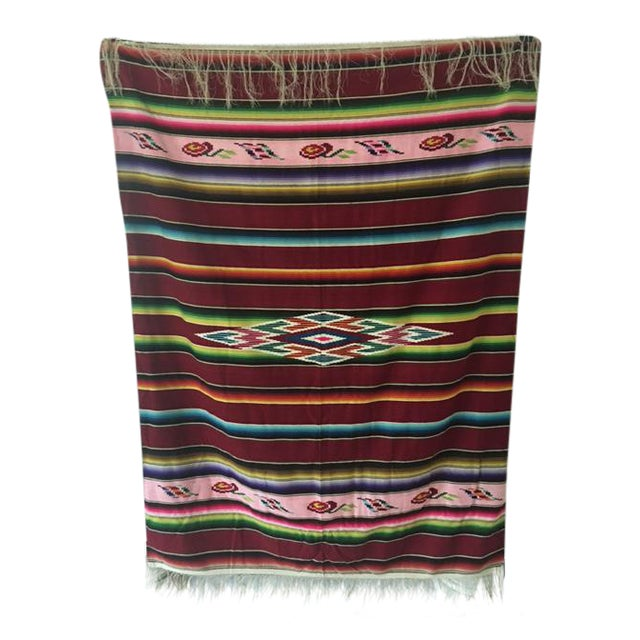 Vintage Mexican Serape Blanket - Image 1 of 6