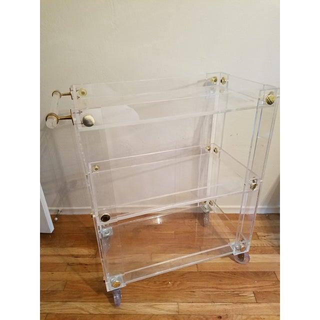 Custom Lucite Bar Cart - Image 3 of 4