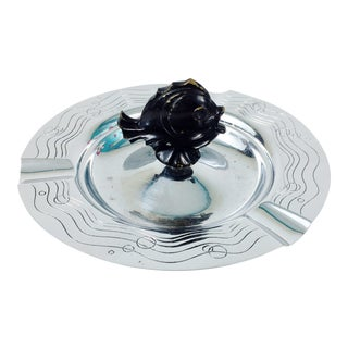 Art Deco Chase Chrome Tropical Fish Ashtray