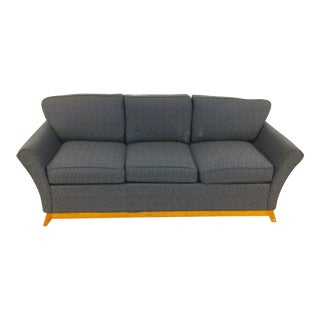Blue Pattern Fabric 3-Seater Couch