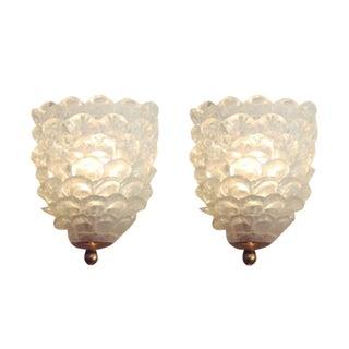 Solid Glass Bubble Sconces- A Pair