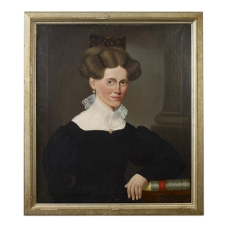 Portrait of a Woman Wearing a Tortoiseshell Comb Seated in a Chair