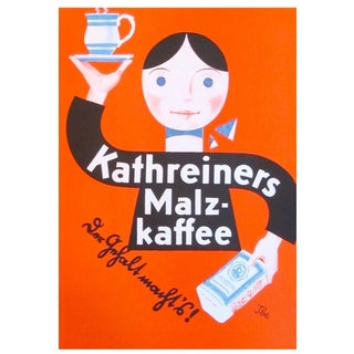 Original 1927 Lithographic Mini Poster of Kaffee