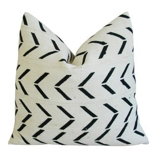 Black & White Mali Mud Cloth Pillow