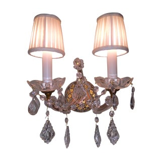 French Crystal Sconces - Pair