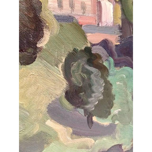 Original Oil on Burlap Landscape Painting - Image 6 of 10