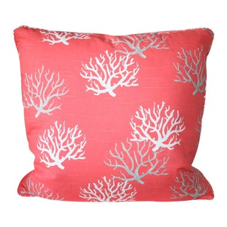 Modern Coral Throw Pillow