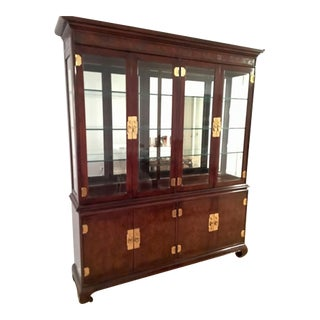 Drexel Heritage Traditional Lighted China Cabinet