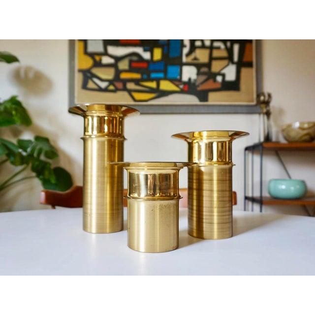 Tapio Wirkkala Bronze Candle Holders- Set of 3 - Image 2 of 5