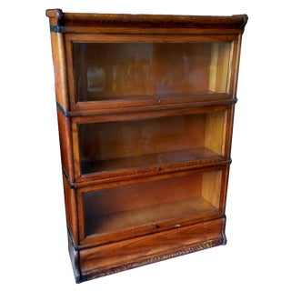 Antique Macey Sectional Lawyer or Barrister Bookcase