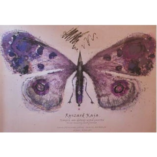 Polish Exhibition Poster, Purple Butterfly