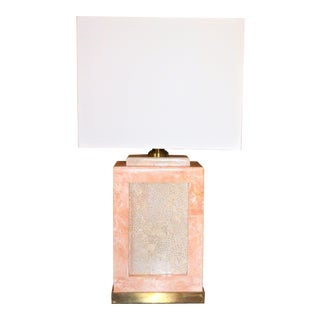 Wildwood Salmon Pink Tessellated Stone Table Lamp