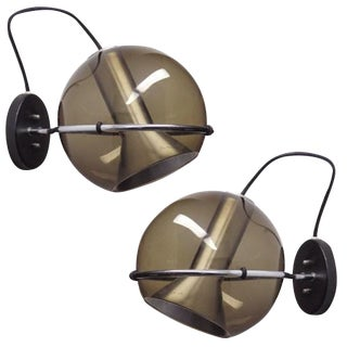 1960s Frank Ligtelijn for Raak Globe Wall Lights - A Pair