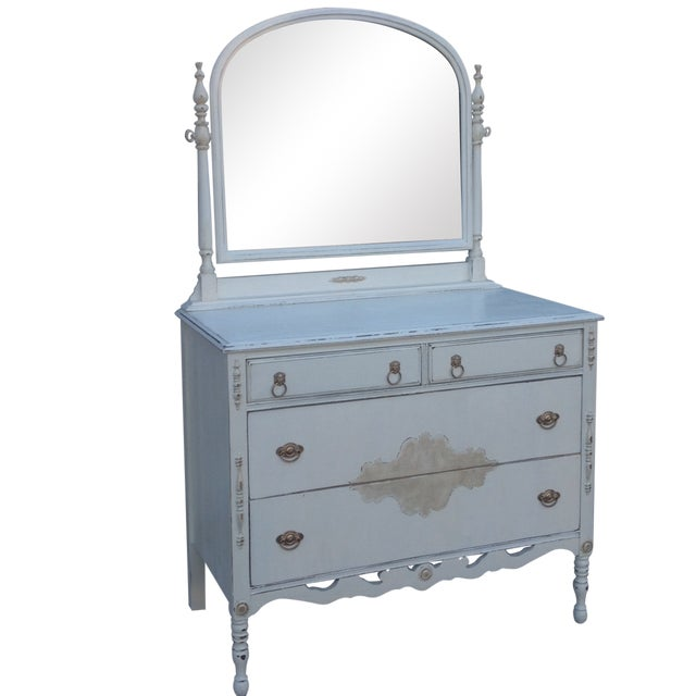 Vintage Shabby Chic Dresser with Mirror - Image 1 of 5