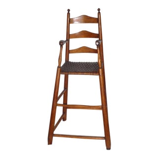 Fantastic 19th Century Childs Ladderback Height Chair from New England
