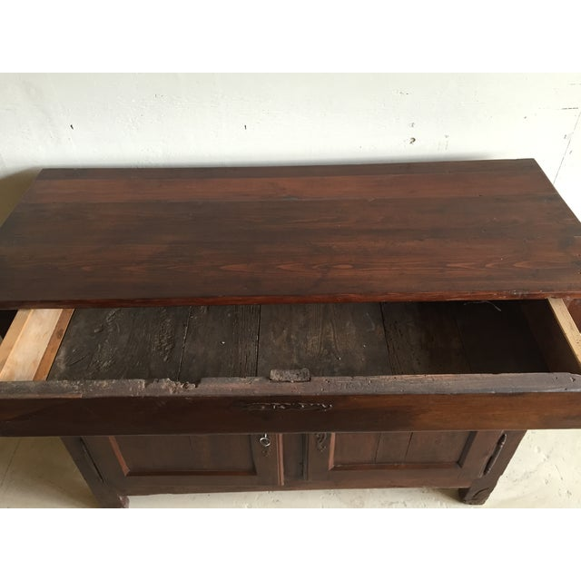 Antique French Country Walnut Cabinet - Image 5 of 11