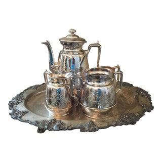 19th C. Silver Plate Tea Set