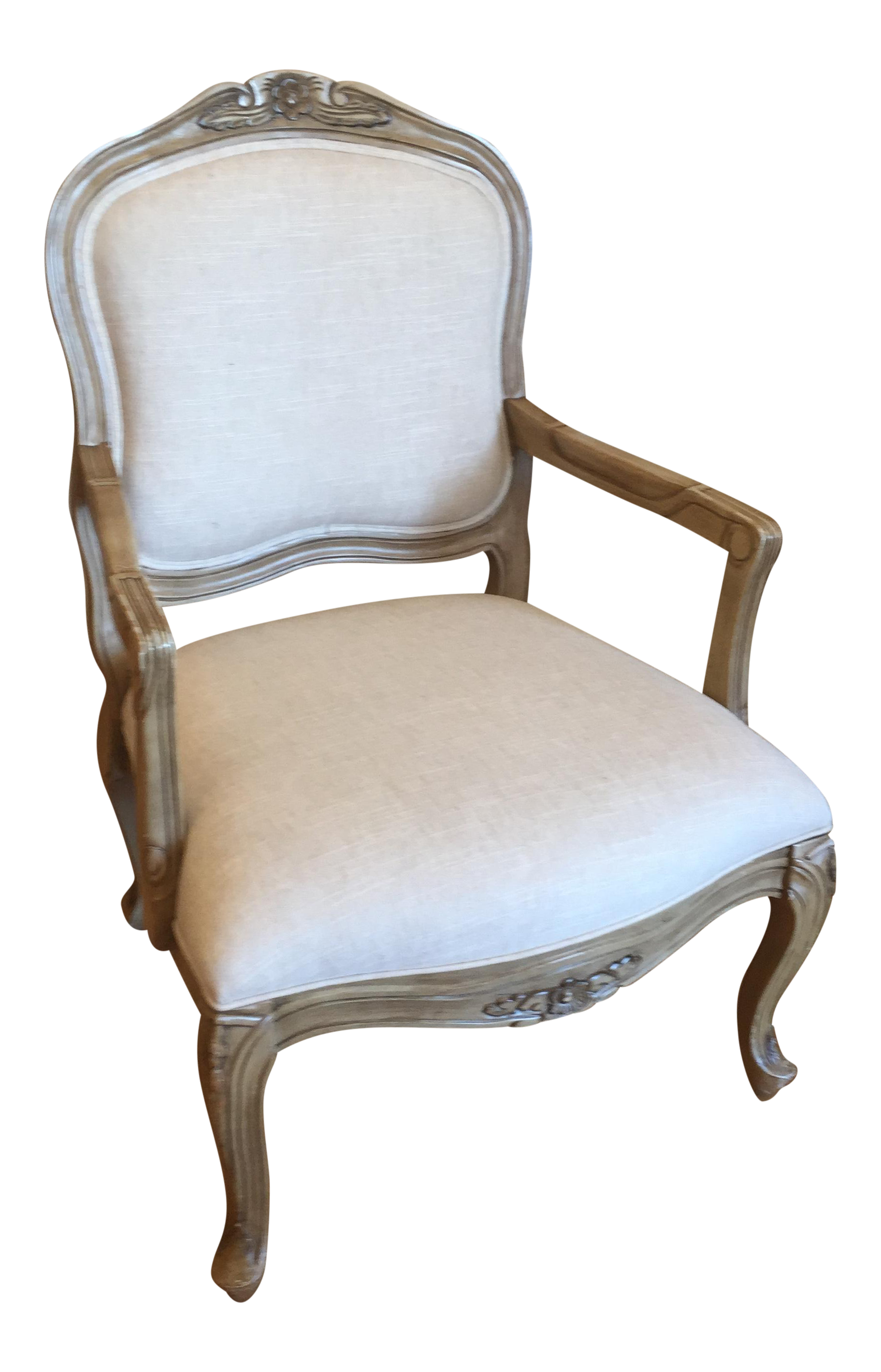 Reupholstered French Style Accent Chair