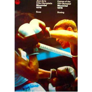 1976 Montreal Olympic Boxing Poster