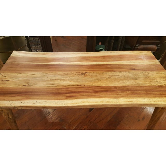 Image of Hand Crafted Salvage Tropical Wooden Table