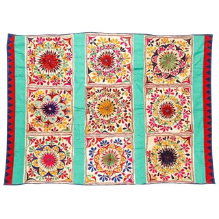 Large Vintage Dowry Textile, Gujarat India