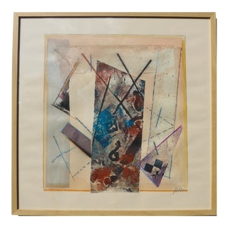 Linear Abstract Collage by Martha Holden