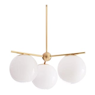 Brass and Glass Ball Pendant Light