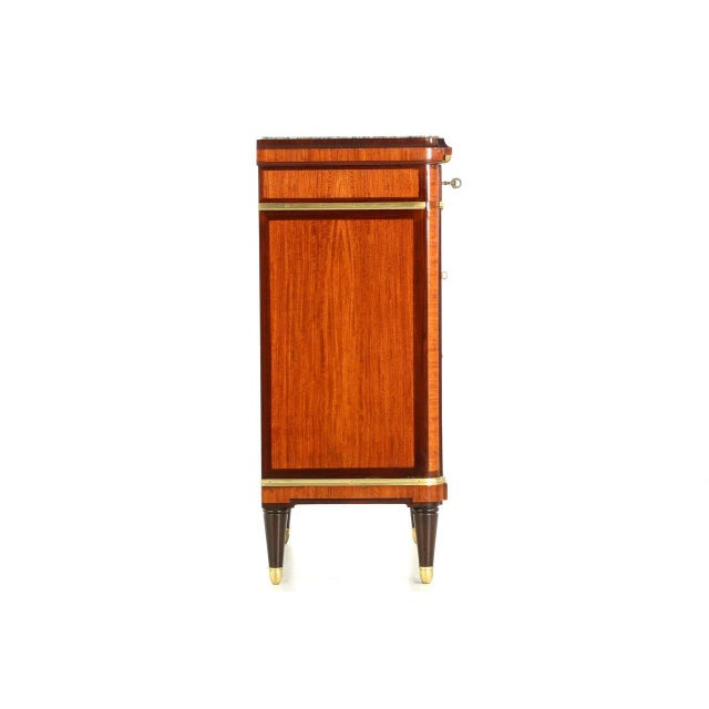 Maison krieger french parquetry inlaid nightstand cabinets for 1880 kitchen cabinets
