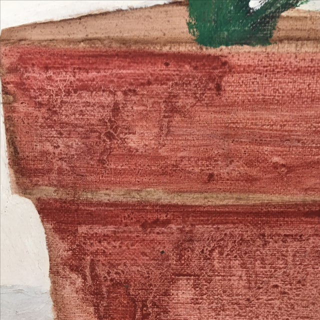 Mid-Century Flower Pot Painting - Image 4 of 10
