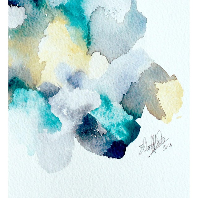 "Ellen Sherman ""Color Study 2"" Watercolor Painting - Image 3 of 4"