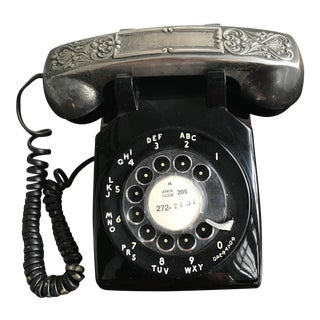 Vintage Rotary Dial Phone with Silverplate Receiver