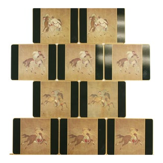 Chinese Polo English Plate Coasters - Set of 10