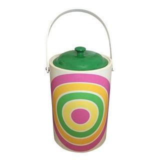 Mid-Century Mod Op Art Bullseye Ice Bucket